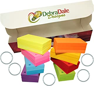 Debra Dale Designs - 560 Small Blank Study Flash Cards - Single Hole Punched - 5 Rings - 2