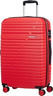 American Tourister Aero Racer Spinner 68 Expandable - 3.6 Kg Bagaglio a Mano 75.5 Liters, Rosso (Poppy Red)
