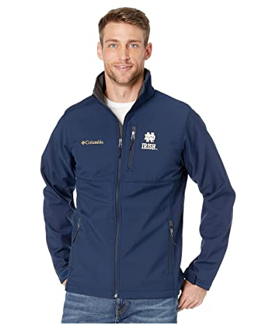 Columbia College Notre Dame Fighting Irish Collegiate Ascendertm Softshell Jacket (Collegiate Navy) Men