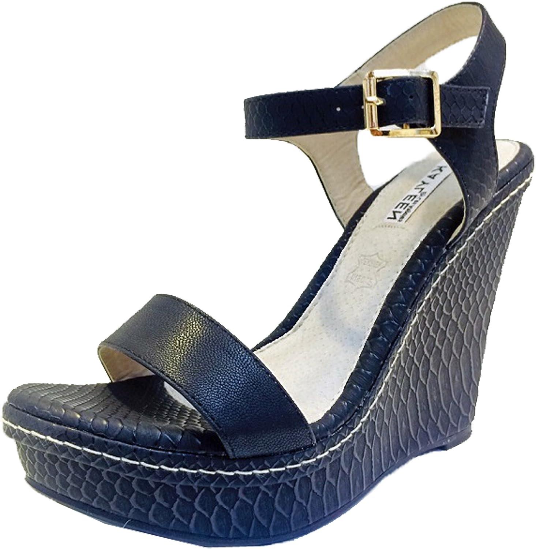 Kayleen Cheri-3 Womens Fashion Strappy High Heel Platform Wedge Sandals