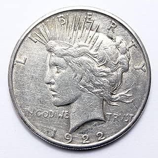 1922 Various Mint Marks Peace Dollar Dollar Good