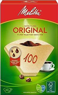 Melitta Filterpåsar 100, arompapper, naturbrun, 40 stycken