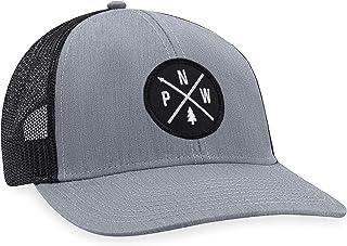 PNW Hat – Pacific Northwest Trucker Hat Baseball Cap Snapback Golf Hat (Grey)
