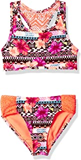 Angel Beach Big Girls' Bralette Bikini Set with Crochet Back