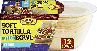 Old El Paso, Soft Taco Boats, Mini Flour Tortilla Bowls, 12 ct, 5.1 oz (Pack of 8)