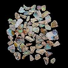 Jaguar Gems Raw Ethiopian Welo Opal Stone Rough Crystal October Birthstone Jewelry Making-DIY Crystal Supply Natural Loose Gemstone Chakra Healing Multi Color Gems Handpicked Assortment (25Carats)