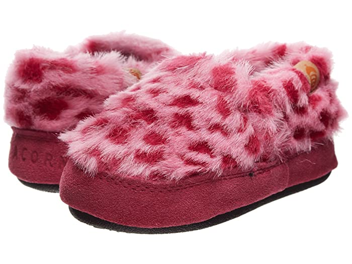 Acorn Kids  Acorn Moc (Toddler/Little Kid/Big Kid) (Pink Ocelot) Girls Shoes