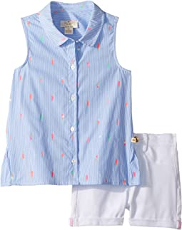 Kate Spade New York Kids Mini Ice Pops Shorts Set (Toddler/Little Kids)