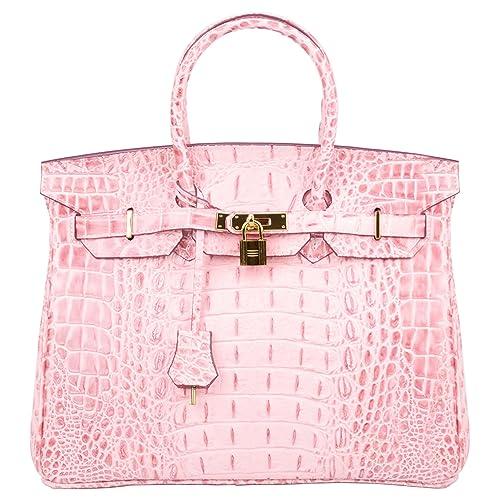 9094684dc3cb SanMario Designer Handbag Top Handle Padlock Women s Leather Bag with  Golden Hardware