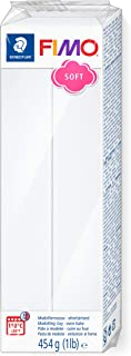 STAEDTLER 8021-0 ST Oven Hardening Modelling Clay, White