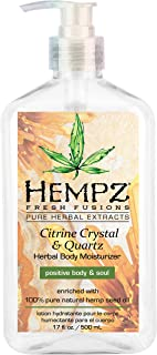Hempz Fresh fusions citrine crystal & quartz herbal body moisturizer, 17 Ounce