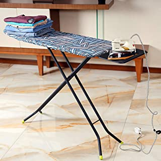 Royalford 110 x 34 cm Ironing Board with Steam Iron Rest, Heat Resistant, Contemporary Lightweight Iron Board with Adjusta...