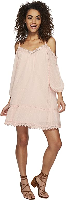Millie Chiffon Dot Dress