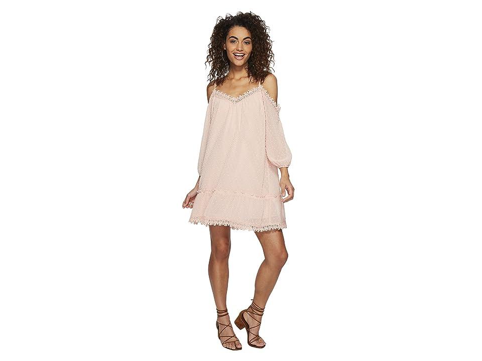 BB Dakota Millie Chiffon Dot Dress (Pink Lemonade) Women