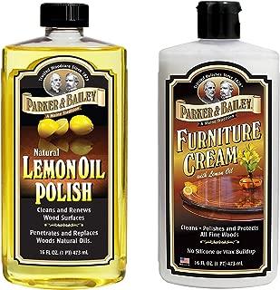 Parker and Bailey Natural Lemon Oil Polish Bundled with Furniture Cream