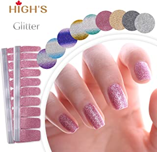 HIGH'S Upgrade EXTRE Adhesion Nail Wraps Decals Art Transfer Sticker Collection Manicure DIY Fullnail Polish Patch Strips ...