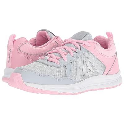 Reebok Kids Almotio 4.0 (Little Kid/Big Kid) (Grey/Light Pink/Silver) Girls Shoes