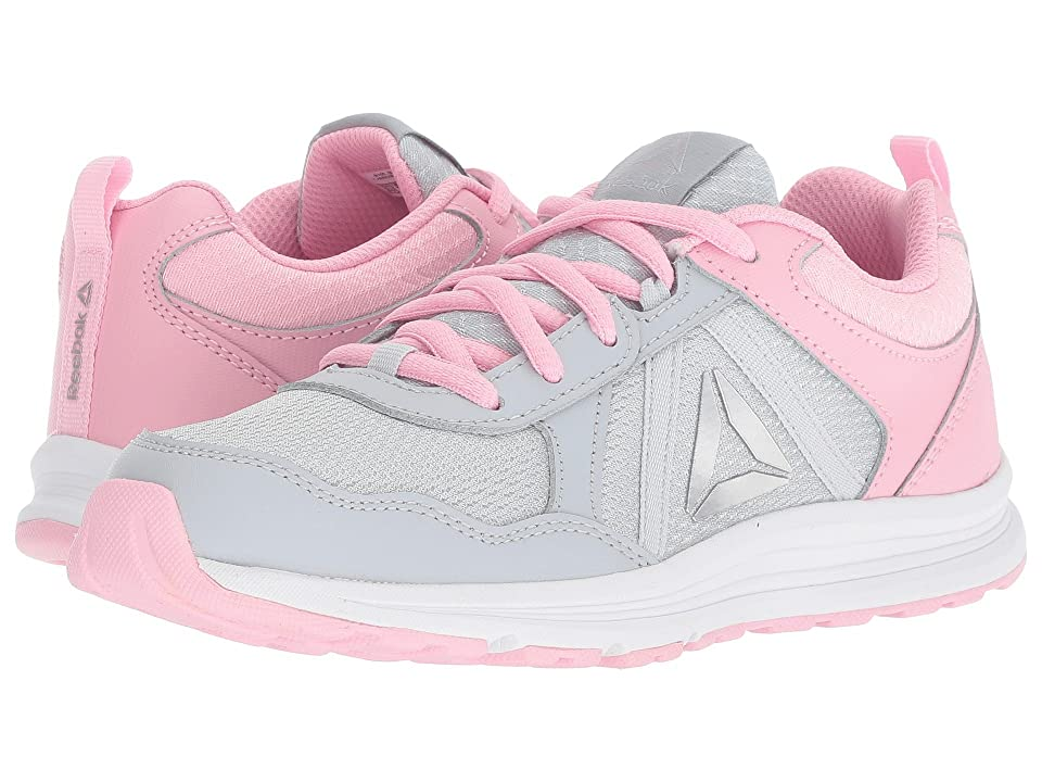 Reebok Kids Almotio 4.0 (Little Kid/Big Kid) (Grey/Light Pink/Silver) Girls Shoes
