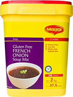 MAGGI French Onion Soup Mix, 2kg (Gluten Free, Vegan, Vegetarian - Makes 37.5 litres, 208 Serves)
