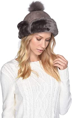 Up Flap Water Resistant Sheepskin Hat