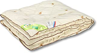 Baby Blankets Unisex Filling with Natural Camel Wool - Crib Toddler Kids Сomforter - for All Season - Quilted