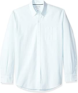 Amazon Essentials Men's Regular-Fit Long-Sleeve Stripe Pocket Oxford Shirt