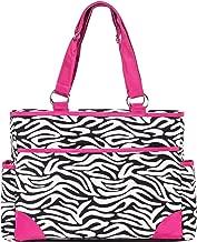 SoHo Pink Zebra Diaper Bag Tote Purse 6Pc Set