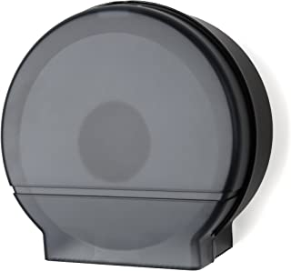 "Palmer Fixture RD0026-02 Single Roll Jumbo Tissue Dispenser with 33/8"" Core, Black Translucent"