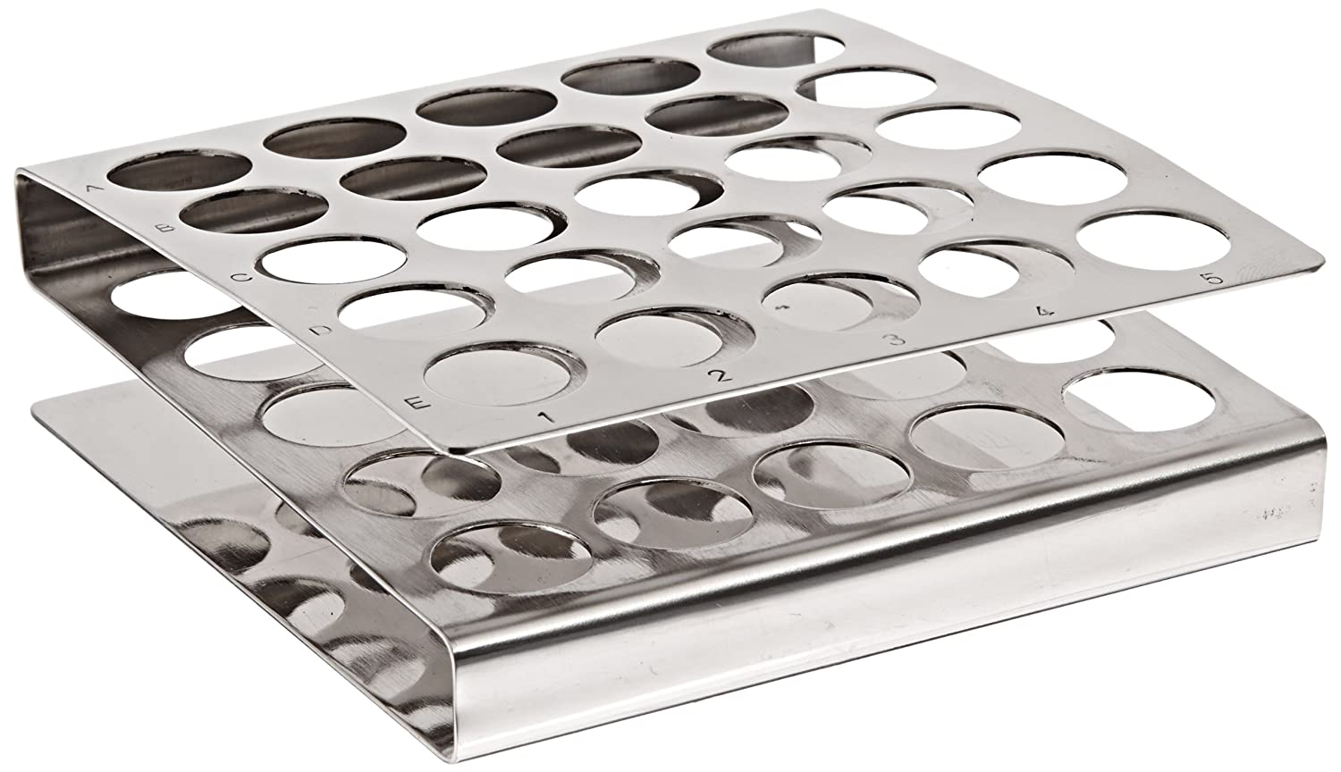 BrandTech B8293 Stainless Steel Z-style Test Tube Max 60% OFF 17mm It is very popular 2 Rack x