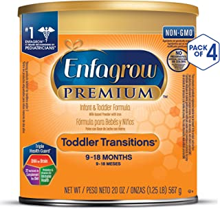 Enfagrow 美赞臣 过渡阶段婴幼儿2段配方奶粉(9-18月) 4罐装(4*567g)