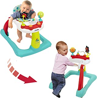 Kolcraft Tiny Steps 2-in-1 Activity Walker -Seated or Walk-Behind Position, Easy to Fold, Adjustable Seat Height, Fun Toys...