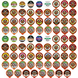 Crazy Cups Decaf Flavored Coffee Variety Pack, Great Mix of Decaffeinated Coffee Pods Compatible with all Keurig K Cups Brewers, Huge 80 Pack