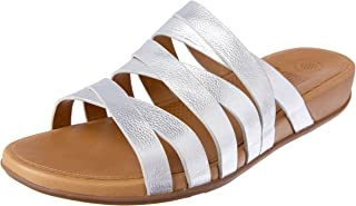 FitFlop Womens Lumy Leather Criss-Cross Slide Sandals
