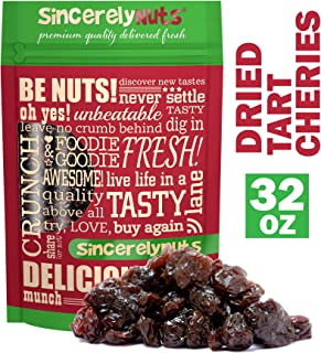 Sincerely Nuts Dried Tart Cherries (2 LB) - Vegan, Kosher, and Gluten-Free Food- Rich in Minerals and Vitamins - Powerful Antioxidants-Make Your Own Trail Mix - Add to Baked Goods, Salads, and More