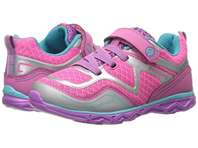 pediped Force Flex (Toddler/Little Kid) (Pink/Silver) Girls Shoes