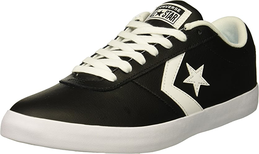 Converse Lifestyle Point Star Ox cuir, Chaussures de Fitness Mixte Adulte