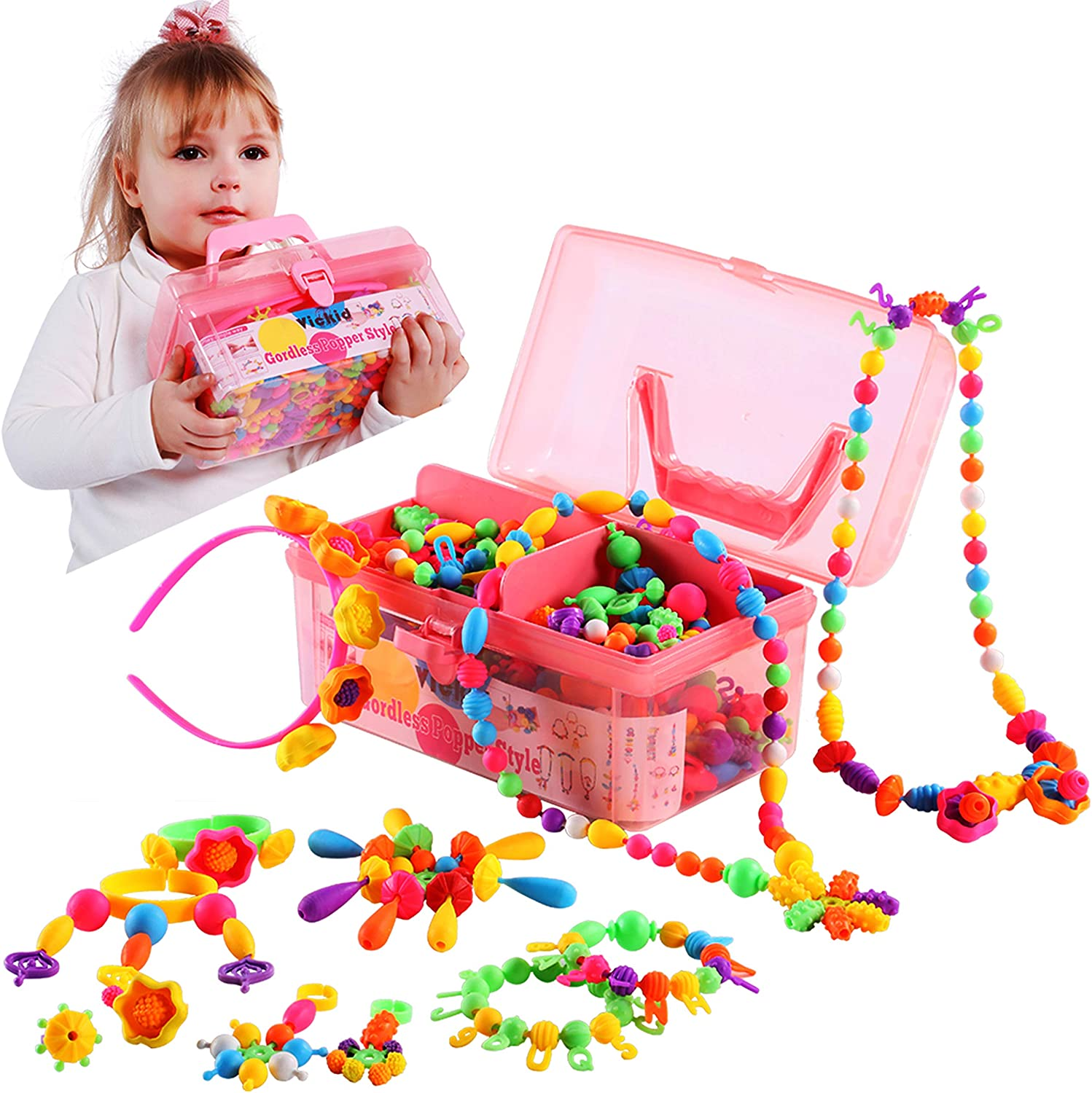 Pop Snap Beads Birthday Gift Special price for a limited time 3 4 Ranking TOP17 5 6 8 Ar 7 Old Year 9 Girls