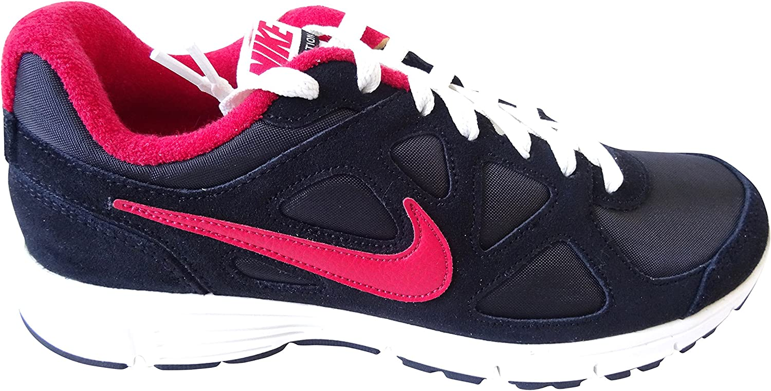Nike Revolution EXT Retro Mens Trainers 543824 062 Sneakers Causal shoes Suede Black red White