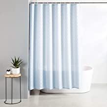 Amazon Brand - Solimo Ruccio Polyester Shower Curtain, 72 inch x 79 inch, Sky Blue