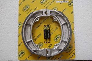 REAR BRAKE SHOES+Springs for SUZUKI 1978-1983 DR 370 400 500, 1976-1978 RM 250 370 400, 1980-1981 RS250 (SK402WS)