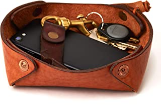 Alta Andina Leather Valet Tray/Catchall Full Grain, Vegetable Tanned Leather - Brown Miel