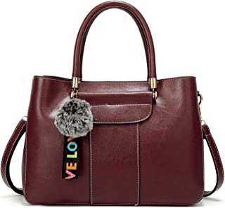 Leather New Women's Handbags Women's Wild Fashion Personality Handbags Simple One-Shoulder Fashion Messenger Wallet Waterproof (Color : Purple, Size : M)