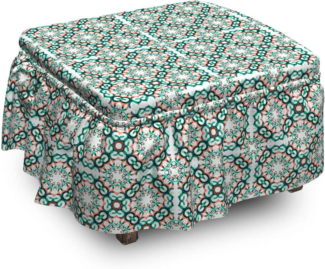 Lunarable Circle Ottoman Surprise price Cover Round Lines Geometric Shapes excellence 2