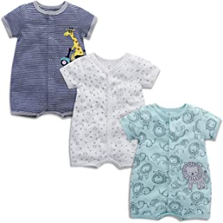 Conjunto de 3 pijamas de manga corta para bebé de algodón para niña, de 3 a 24 meses