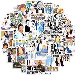 Grey's Anatomy Sticker Pack 66 Pcs tv Show Creative DIY Stickers Funny Decorative Cartoon for Cartoon PC Luggage Computer ...