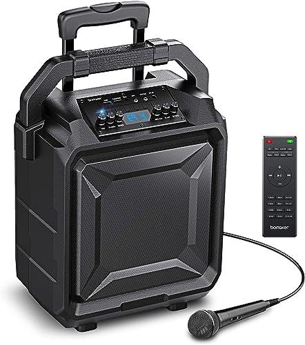Bomaker,Sonorisation Portable,Enceinte Sono Portable,Haut-parleur Bluetooth avec Microphone et Télécommande,Karaoké R...