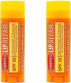 O'Keeffe's Lip Repair SPF 35 Lip Balm, (Pack of 2)