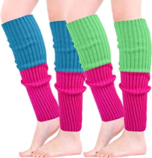 Leg Warmers Women Fashion 80s Ribbed Knit Knee High Socks for Party Accessories