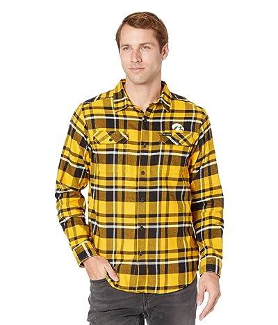 Columbia College Iowa Hawkeyes Flare Gun Flannel Long Sleeve Shirt (MLB Gold Plaid) Men