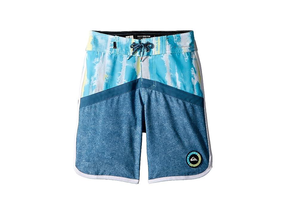 Quiksilver Kids Highline Fortune Boardshorts (Big Kids) (Cyan Blue) Boy